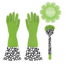 3-Piece Cleaning Set, Green