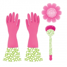 3-Piece Cleaning Set, Pink