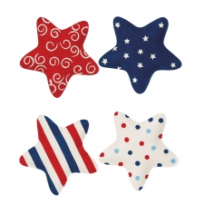 S/4 Patriotic Star Shaped Plates