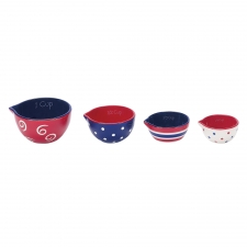 S/4 Patriotic Measuring Cups
