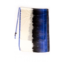 Roberto Cavalli Feather Border Scarf, Blue
