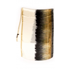 Roberto Cavalli Feather Border Scarf, Tan