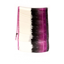 Roberto Cavalli Feather Border Scarf, Purple