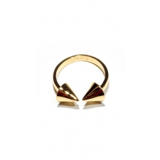 Gold Spike Double Header Ring - Gold - 7