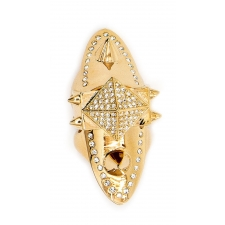 Barbarella Pave Hinge Ring - Gold