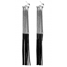 Voyeur Earrings - Silver/ Black