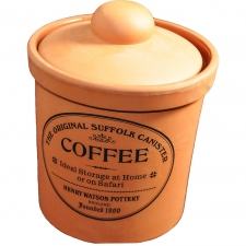 Terracotta Coffee Canister, Medium