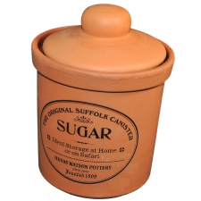 Terracotta Sugar Canister, Medium