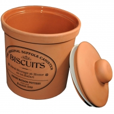 Terracotta Biscuit Canister, Large