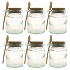 Honey Jar with Wooden Spoon, Set of 6