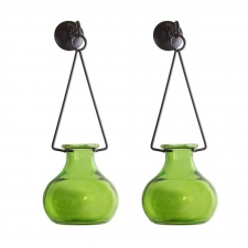 Lime Hanging Gourd Vase, Set of 2
