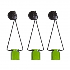 Lime Hanging Jar, Set of 3