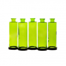 Cylindra Bottles with Metal Stand, Lime