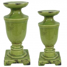 Kendrick Glazed Candlesticks, Set of 2