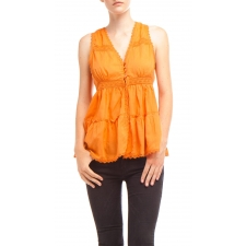 Abigail Blouse, Orange, L