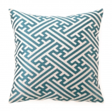 Cross Hatch Pillow, Teal