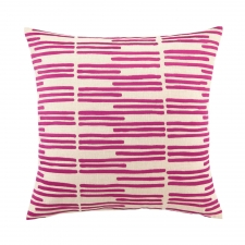Grass Blades Pillow, Raspberry