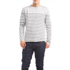 Johnson, Charcoal Crème Stripe, M