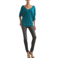 Neva Top Print, Ocean Depths Stripe, S