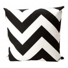 "20"" x 20"" Brookneal Pillow, Black/White"