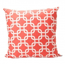 "20"" x 20"" Potrero Pillow, Coral"