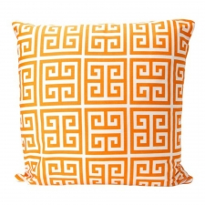 "20"" x 20"" Henshaw Pillow, Orange Sherbet"