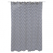 "72"" x 72"" Anza Shower Curtain, Navy Blue"