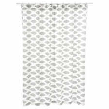 "72"" x 72"" Cardiff Shower Curtain, Ikat Gray/White"