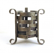 Woven Iron Candle Holder
