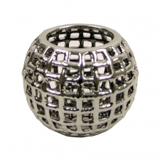 Silver Lattice Candle Holder