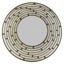 Gold Round Metal Mirror