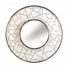 Shapes Round Metal Mirror