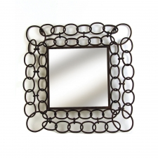 Metal Chains Square Mirror