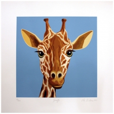 "17"" Jolly Giraffe Art Print"