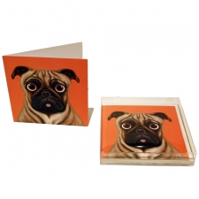 Pugnacious Pug Notecards, Set of 10