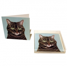 Grey Tabby Notecards, Set of 10