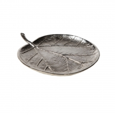 "5.5"" Sea Grape Leaf Tray made by Metal Works."