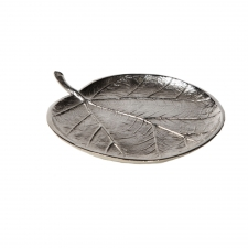 "8"" Sea Grape Leaf Tray made by Metal Works."