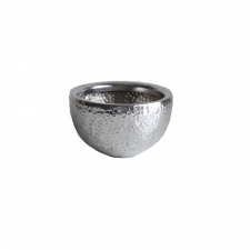 "9.25"" Dotted Aluminum Bowl made by Metal Works."