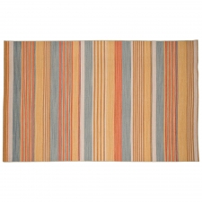 5' x 8' Shanklin Rug, Saffron made by Fashionable Flatweaves.