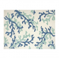 8' x 10' Tripura Rug, White/Sea Green
