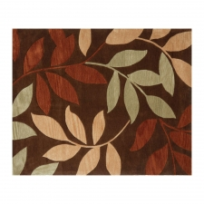 8' x 10' Attingal, Dark Brown