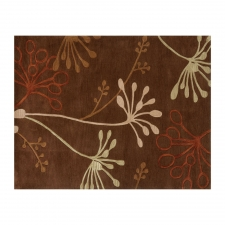 8' x 10' Jammu Rug, Dark Brown