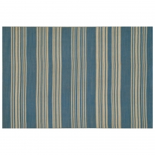 4' x 6' Jesmond Rug, Bermuda Blue made by Fashionable Flatweaves.