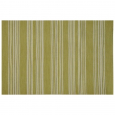 100% Wool Flatweave, Partington Rug, Lime Green