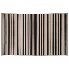 4' x 6' Oadby Rug, Ebony made by Fashionable Flatweaves.