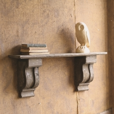 Hayes Wooden Mantel Shelf made by Charming Rustic Accents.