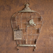 Birdcage Wall Hanger with Photo Clips