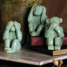 Hear No, See No, Speak No Evil Monkeys, Set of 3