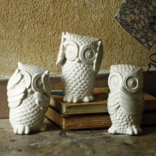 Hear No, See No, Speak No Evil Owls, Set of 3